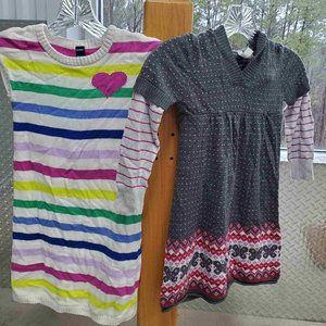 PAIR of Girls Old Navy Sweater Dresses